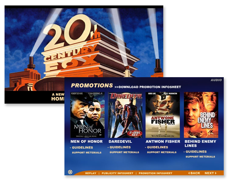 20th Century Fox – Promotional Interactive Flash Widget