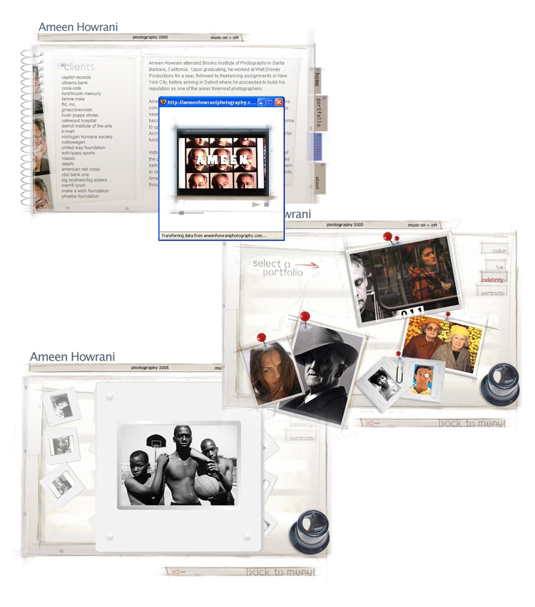 Ameen Howrani Flash Website, Photography
