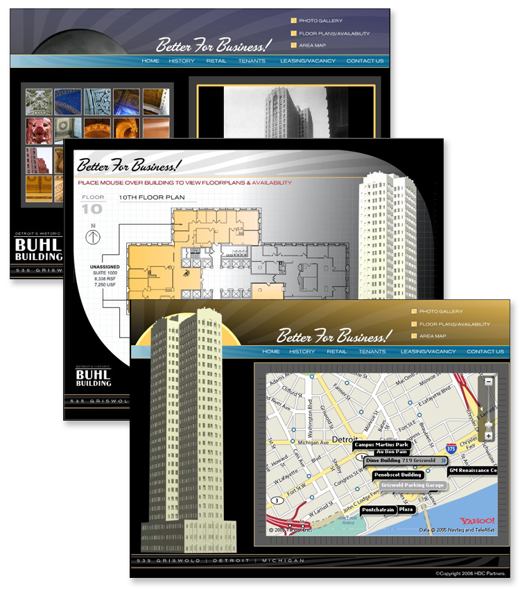 The Buhl Building – Interactive Flash Website