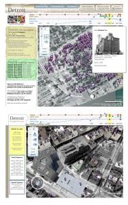 Detroit 1976 Bing, Virtual Earth Microsoft Maps