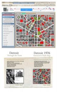 Detroit 1976 Interactive Flash Map