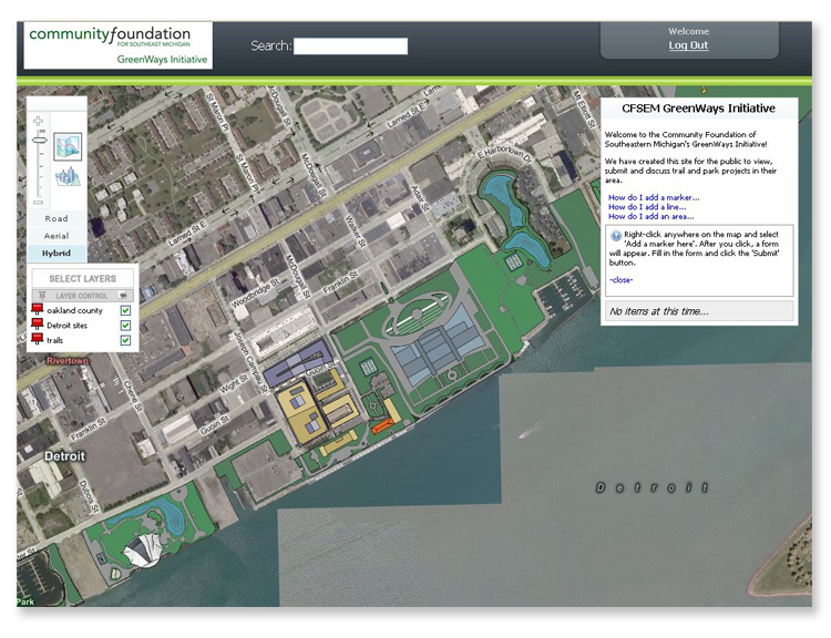 Greenways Interactive Bing Mapping System