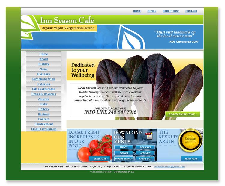 Inn Season Cafe – Website