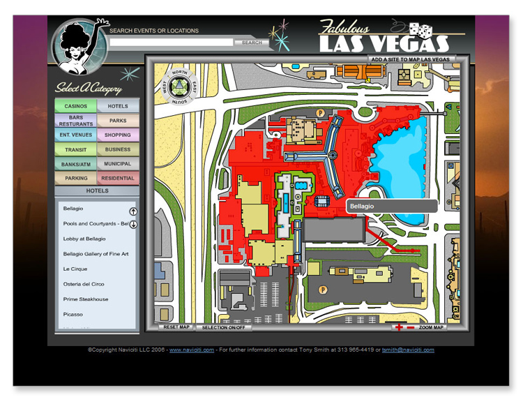 Las Vegas Flash Interactive Mapping System