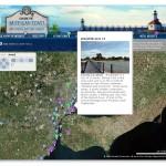 Michigan Coast Interactive Map, with QTVR
