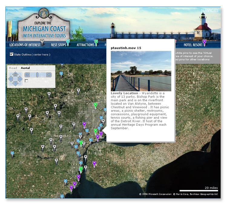 Michigan Coast Interactive Bing API Mapping System