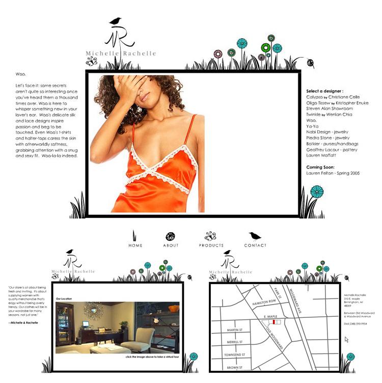 Michelle Rachelle – Retail Store Flash Website