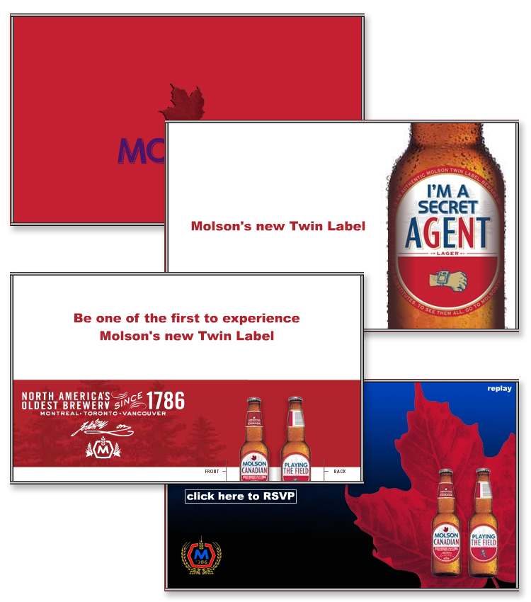 Molson Twin Label  -Interactive Flash Widget