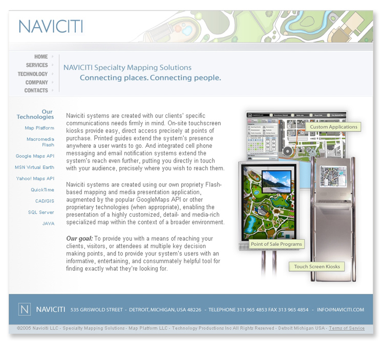 Naviciti Mapping Systems Company Flash Website