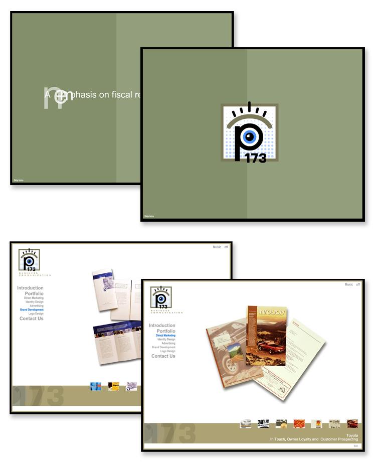 P173 – Interactive Flash Portfolio