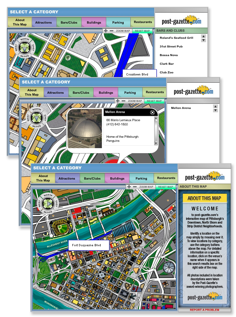Pittsburgh Interactive Flash Mapping System