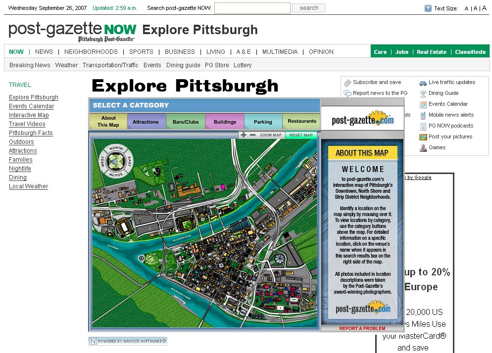 Pittsburgh Bing Maps Mapping System