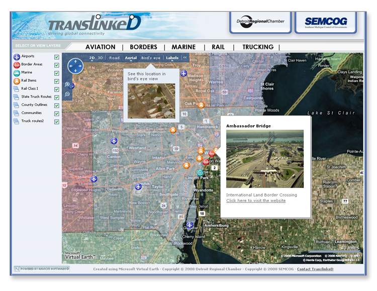 SE Michigan Transportation Asset Mapping System
