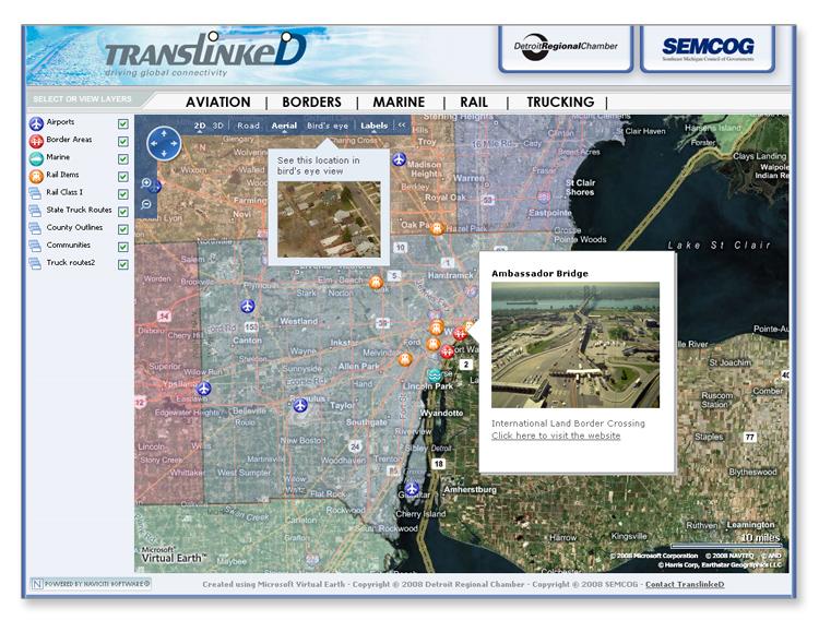 SE Michigan Transportation Asset Mapping System