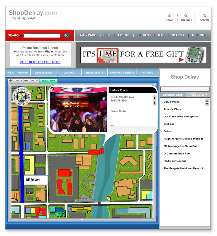 ShopDelray Interactive Flash Mapping System