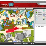 Six Flags Interactive Flash Mapping System