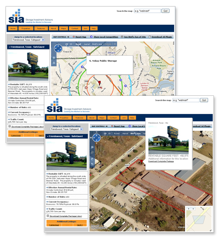 Real Estate Investment Bing API Mapping System