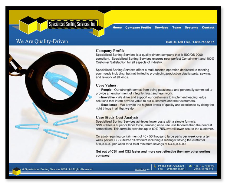 Specialized Sorting Services – Flash Website