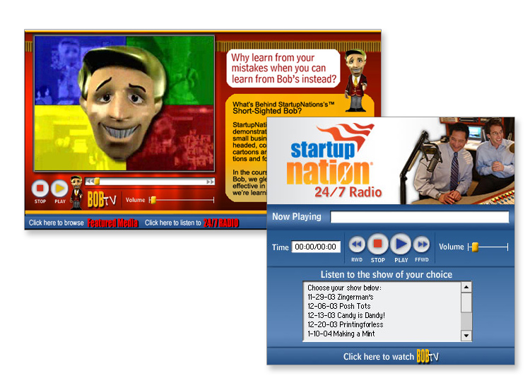 Start-Up Nation Interactive Flash Website/Radio Player
