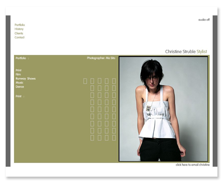 Christine Struble Stylist – Interactive Flash Website