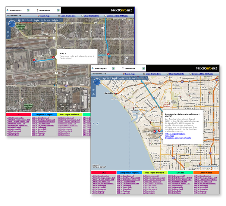 Metro Los Angeles Taxi Routes and Traffic Mapping System