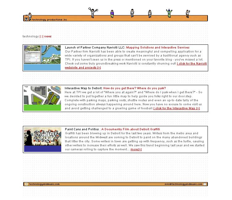 Technology Productions Inc – Flash Website