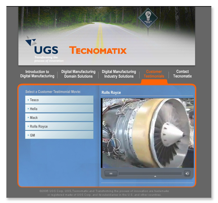 USG Siemens – Interactive Flash Website
