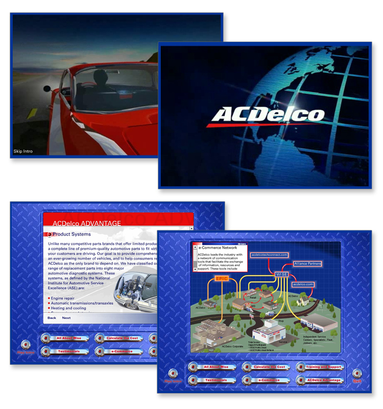 AC Delco Interactive Flash CD-Rom, Teaining Presentation
