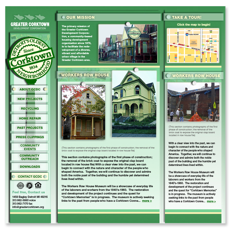 Corktown Citizens District Community  Website