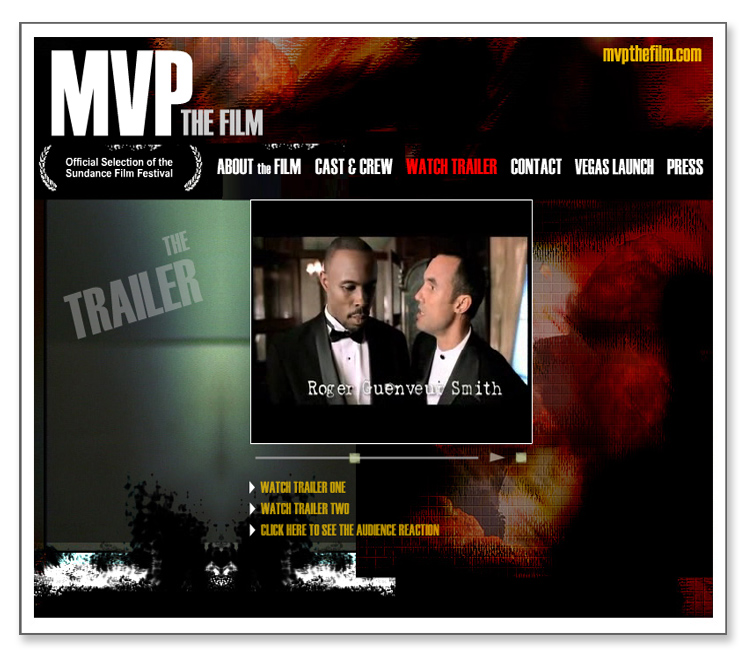 MVP the Film- Flash Website with Video