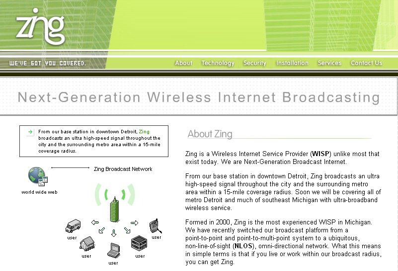 Zing Wireless Website